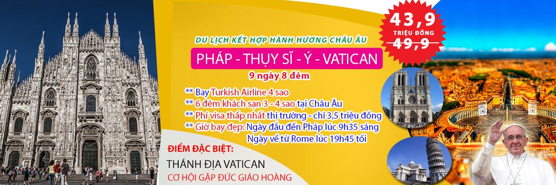 Tour Châu 4 nước tham quan Vatican