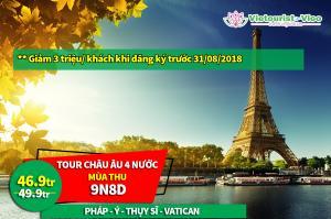 Sôi Động Khuyến Mãi Tour Mỹ - Âu - Canada Mùa Thu: Nhận Ưu Đãi Lên Đến 3 Triệu Đồng