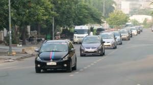 Đoàn Caravan 43 xe Grandis do VieTourist tổ chức hành trình Sài Gòn - Phan Thiết