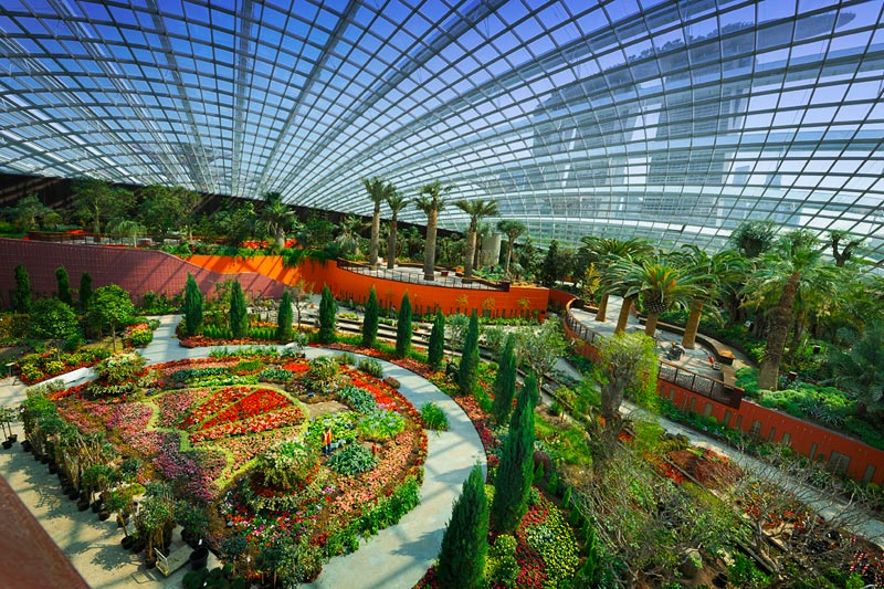 Flower Dome - du lịch Singapore