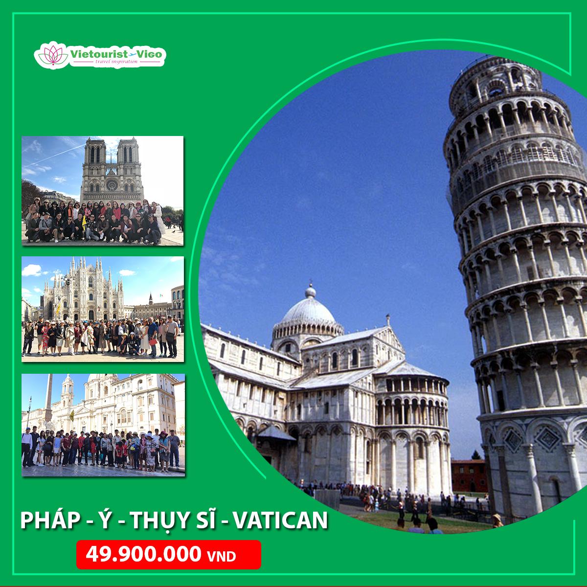 Tour Châu Âu 4 nước Vietourist vigo