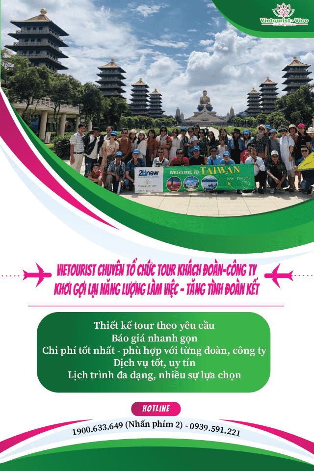 Vietourist chuyên tổ chức các tour đoàn thể, hộ nhóm, công ty