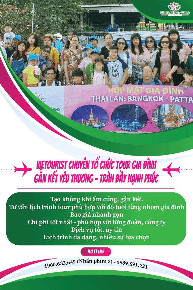 Vietourist chuyên tổ chức các tour du lịch gắn kết gia đình
