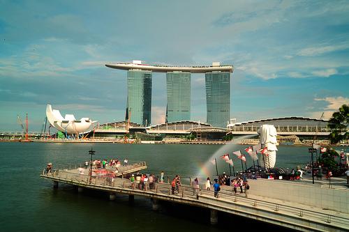 Du lịch Singapore tết 2016 - Merlion Park