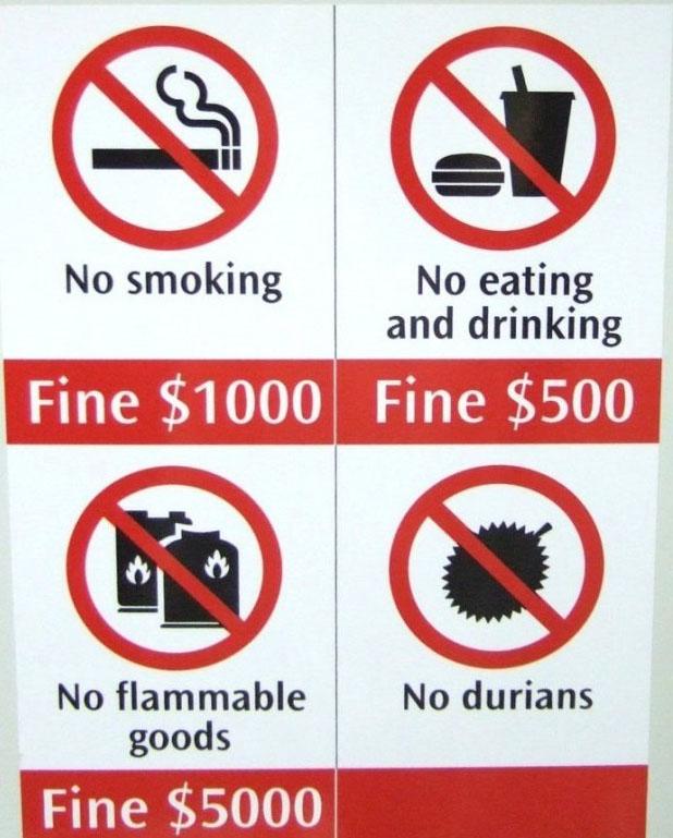 Vi phạm những quy định cấm nơi công cộng tại Singapore sẽ bị phạt rất nặng