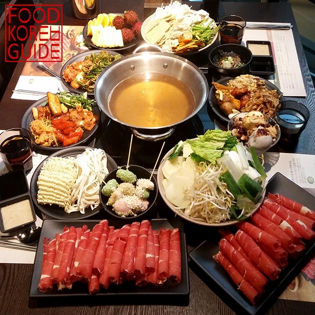 Lẩu shabu shabu - du lịch Hàn Quốc