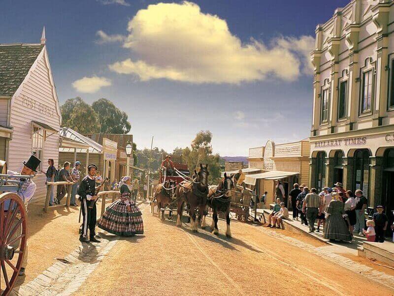 Quang cảnh yên bình tại thị trấn đào vàng Ballarat
