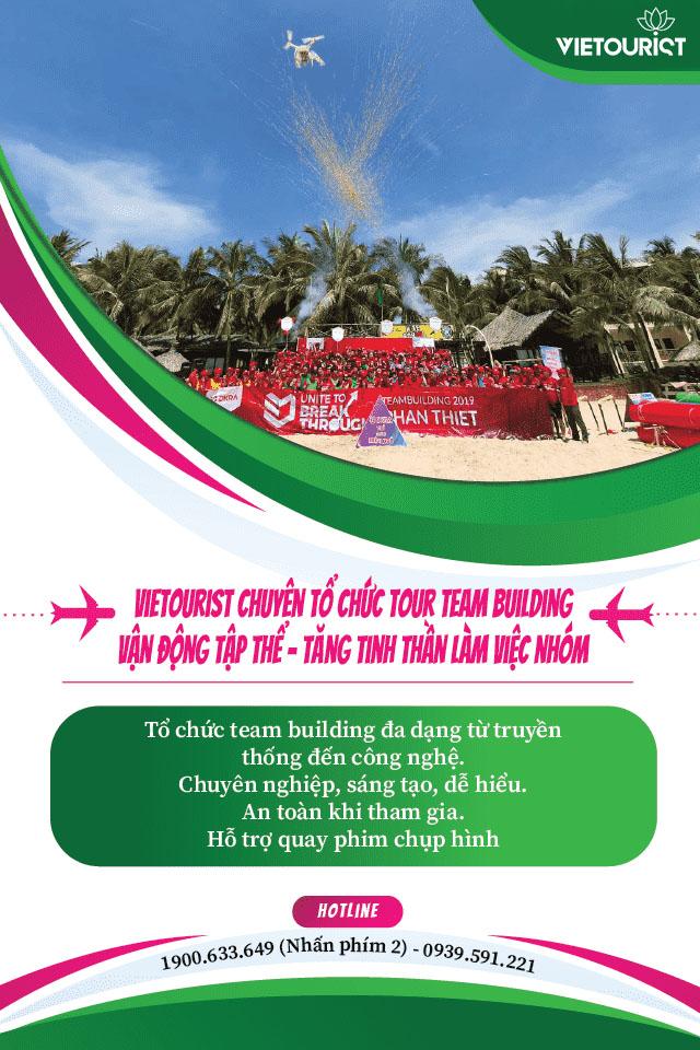Vietourist chuyên tổ chức du lịch team building với nhiều hoạt động thú vị