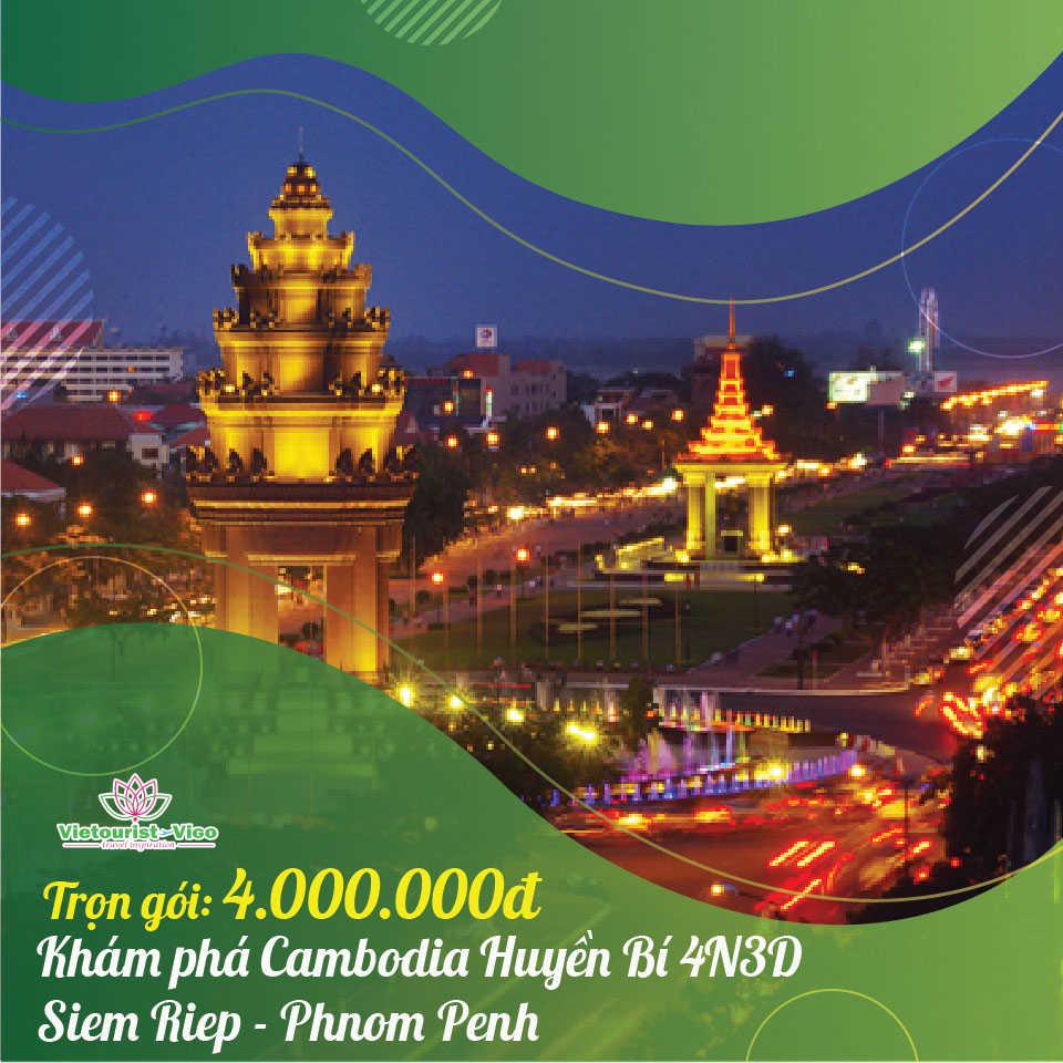 Tour du lịch Campuchia Vietourist