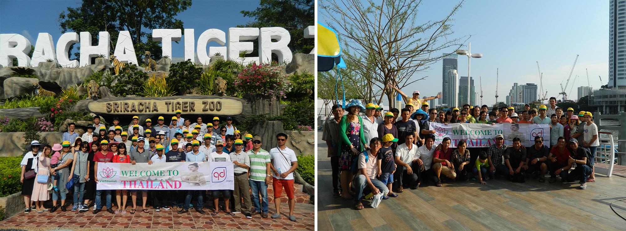 Tour Du Lịch Khách Đoàn Thái Lan công ty TNHH TM Quang Dũng do Vietourist tổ chức